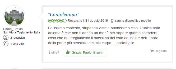 """Compleanno"" by tripadvisor"