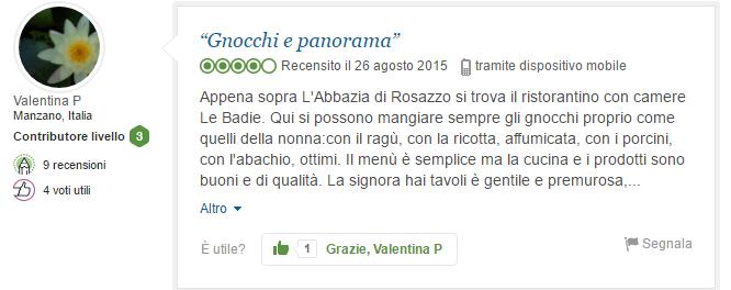 """""""Gnocchi e panorama"""""""